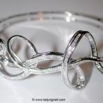 Bracelet rigide en or blanc