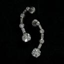 Pendants d'oreille en platine et diamants 2,90 carats. Vendus 33 750 euros en 2018