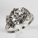 Bague en or blanc, diamant de 3,16 Carats. Adjugé à 19 000 euros